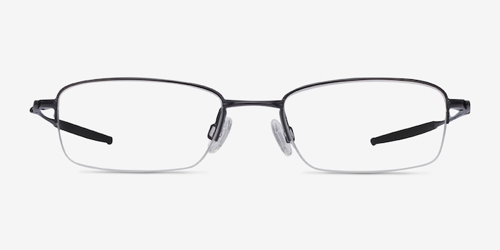 Oakley OX3133 Polished Black Metal Eyeglass Frames from EyeBuyDirect, Front View