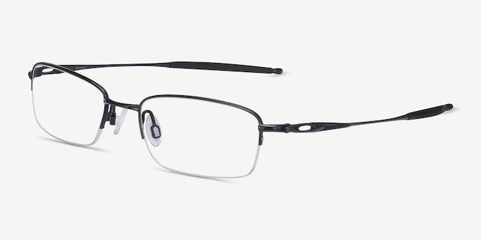 Oakley OX3133 Polished Black Metal Eyeglass Frames from EyeBuyDirect, Angle View