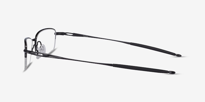 Oakley OX3133 Polished Black Metal Eyeglass Frames from EyeBuyDirect, Side View