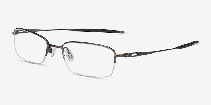 Oakley OX3133 Pewter Metal Eyeglass Frames from EyeBuyDirect, Angle View