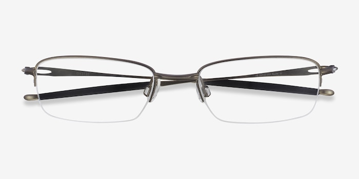 Oakley OX3133 Pewter Metal Eyeglass Frames from EyeBuyDirect, Closed View