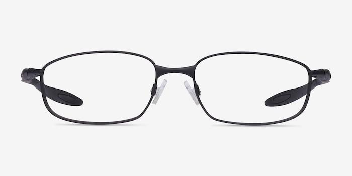 Oakley Blender 6B Satin Black Metal Eyeglass Frames from EyeBuyDirect, Front View