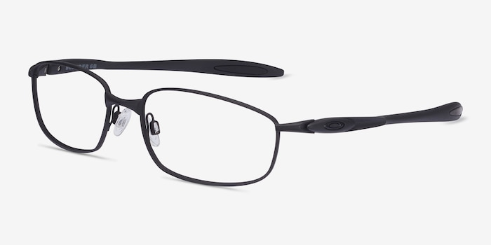 Oakley Blender 6B Satin Black Metal Eyeglass Frames from EyeBuyDirect, Angle View