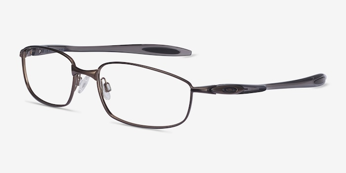 Oakley Blender 6B Pewter Metal Eyeglass Frames from EyeBuyDirect, Angle View