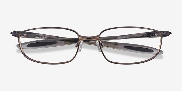 Oakley Blender 6B Pewter Metal Eyeglass Frames from EyeBuyDirect, Closed View