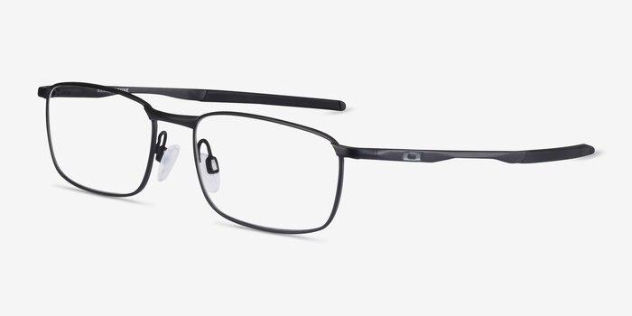Oakley Barrelhouse Matte Black Metal Eyeglass Frames from EyeBuyDirect, Angle View