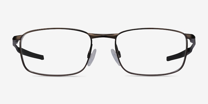 Oakley Barrelhouse Pewter Metal Eyeglass Frames from EyeBuyDirect, Front View
