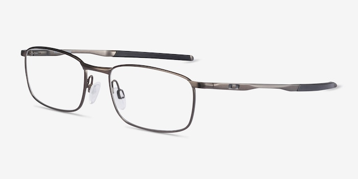 Oakley Barrelhouse Pewter Metal Eyeglass Frames from EyeBuyDirect, Angle View