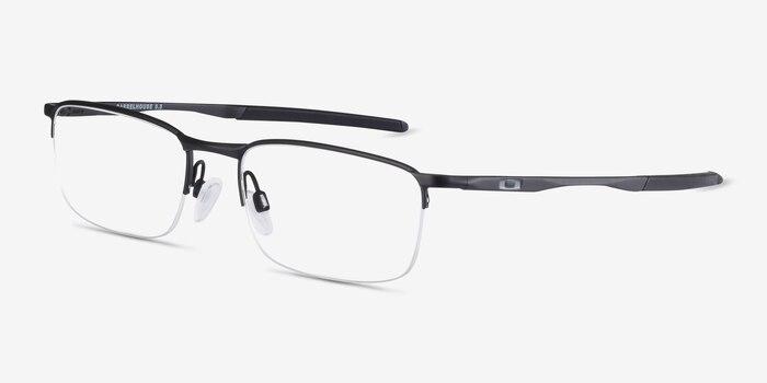 Oakley Barrelhouse 0.5 Matte Black Metal Eyeglass Frames from EyeBuyDirect, Angle View