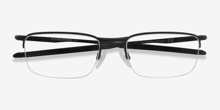 Oakley Barrelhouse 0.5 Matte Black Metal Eyeglass Frames from EyeBuyDirect, Closed View