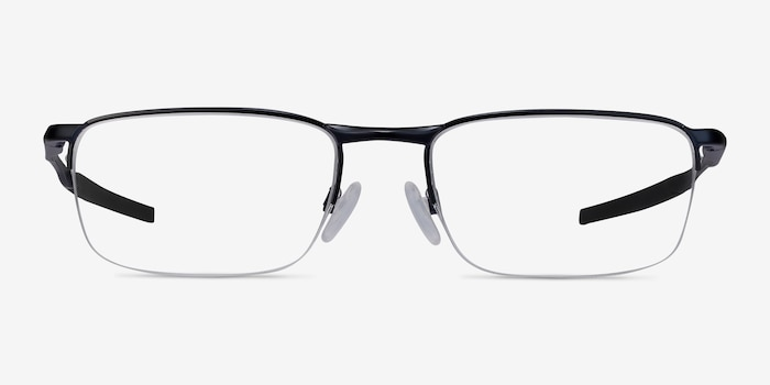 Oakley Barrelhouse 0.5 Matte Midnight Metal Eyeglass Frames from EyeBuyDirect, Front View