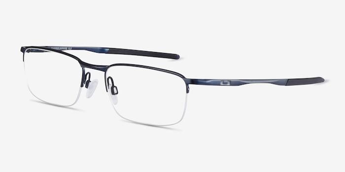 Oakley Barrelhouse 0.5 Matte Midnight Metal Eyeglass Frames from EyeBuyDirect, Angle View