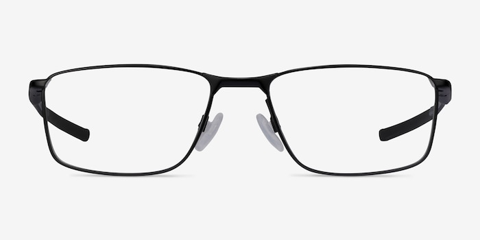 Oakley Socket 5.0 Satin Black & Gray Metal Eyeglass Frames from EyeBuyDirect, Front View