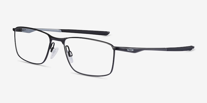 Oakley Socket 5.0 Satin Black & Gray Metal Eyeglass Frames from EyeBuyDirect, Angle View