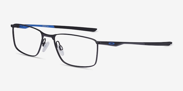 Oakley Socket 5.0 Satin Black & Blue Metal Eyeglass Frames from EyeBuyDirect, Angle View