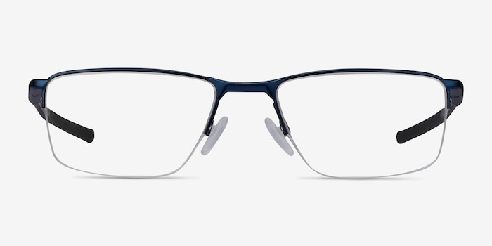 Oakley Socket 5.5 Matte Midnight Metal Eyeglass Frames from EyeBuyDirect, Front View