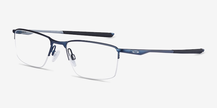Oakley Socket 5.5 Matte Midnight Metal Eyeglass Frames from EyeBuyDirect, Angle View