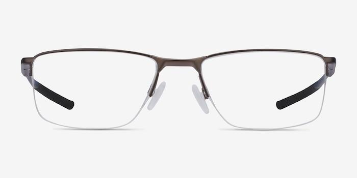 Oakley Socket 5.5 Satin Pewter Metal Eyeglass Frames from EyeBuyDirect, Front View