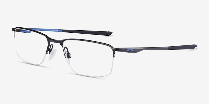 Oakley Socket 5.5 Satin Black & Blue Metal Eyeglass Frames from EyeBuyDirect, Angle View