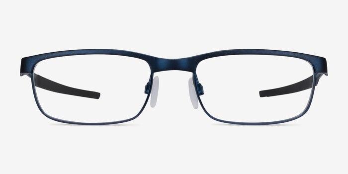 Oakley Steel Plate Powder Midnight Metal Eyeglass Frames from EyeBuyDirect, Front View