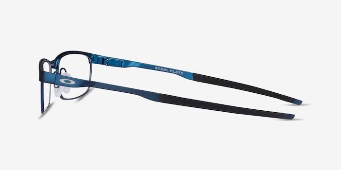 Oakley Steel Plate Powder Midnight Metal Eyeglass Frames from EyeBuyDirect, Side View