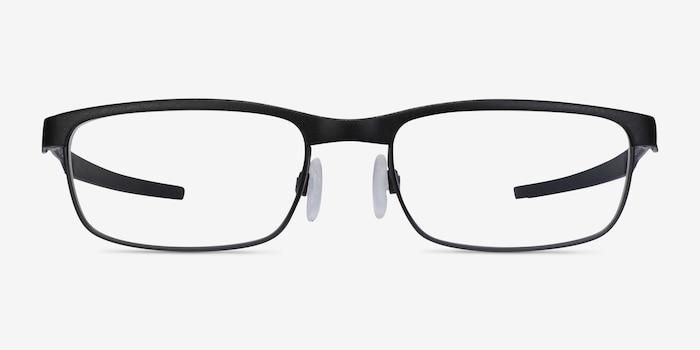 Oakley Steel Plate Powder Coal Metal Eyeglass Frames from EyeBuyDirect, Front View