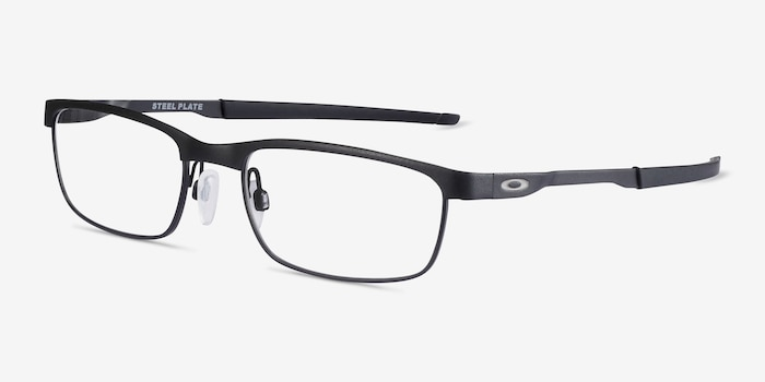 Oakley Steel Plate Powder Coal Metal Eyeglass Frames from EyeBuyDirect, Angle View
