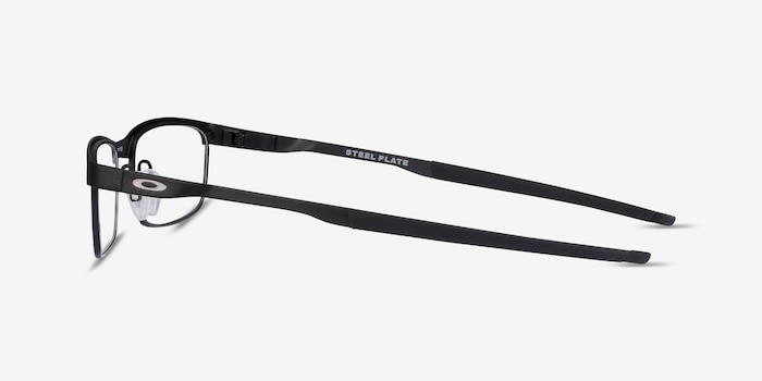 Oakley Steel Plate Powder Coal Metal Eyeglass Frames from EyeBuyDirect, Side View