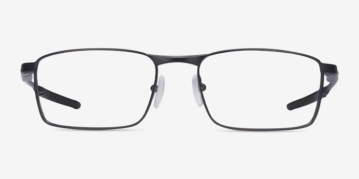 Oakley Fuller Satin Black Metal Eyeglass Frames from EyeBuyDirect, Front View