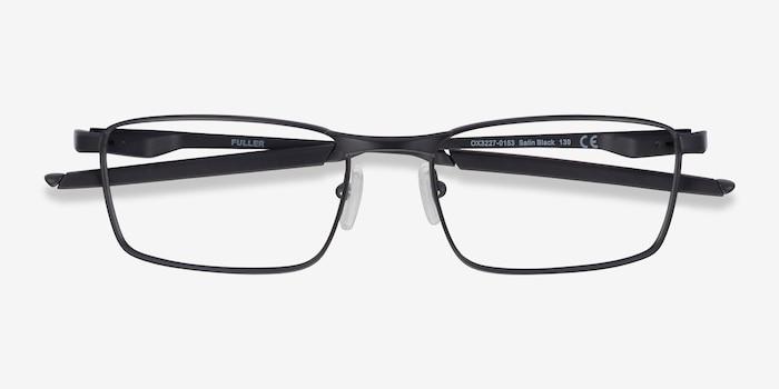 Oakley Fuller Satin Black Metal Eyeglass Frames from EyeBuyDirect, Closed View