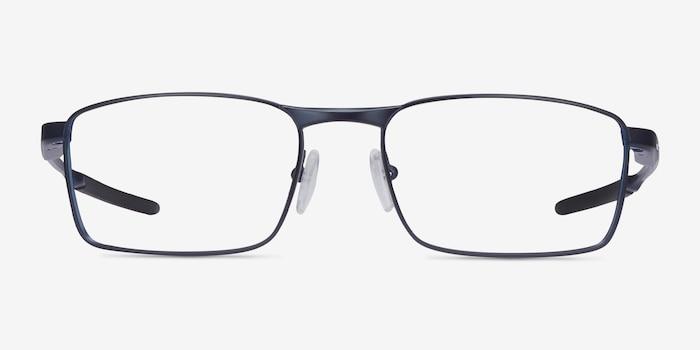 Oakley Fuller Matte Midnight Metal Eyeglass Frames from EyeBuyDirect, Front View