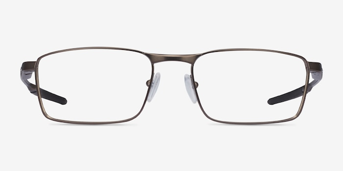 Oakley Fuller Pewter Metal Eyeglass Frames from EyeBuyDirect, Front View