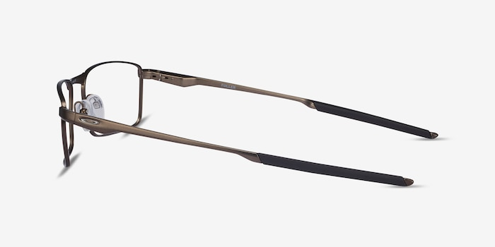 Oakley Fuller Pewter Metal Eyeglass Frames from EyeBuyDirect, Side View