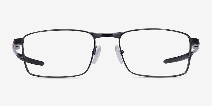 Oakley Fuller Polished Black Metal Eyeglass Frames from EyeBuyDirect, Front View