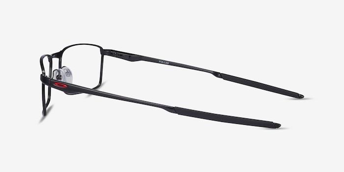 Oakley Fuller Polished Black Metal Eyeglass Frames from EyeBuyDirect, Side View