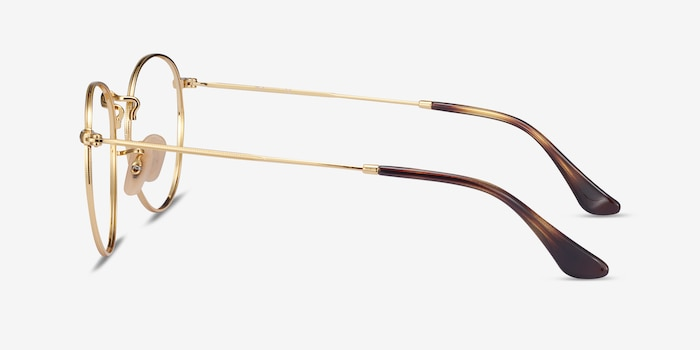 Ray-Ban RB3447V Gold Metal Eyeglass Frames from EyeBuyDirect, Side View