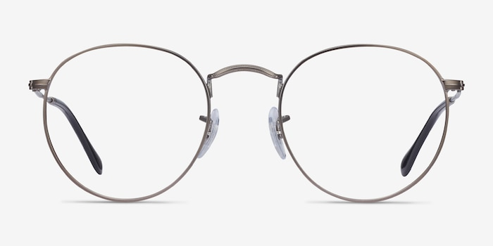 Ray-Ban RB3447V Gunmetal Metal Eyeglass Frames from EyeBuyDirect, Front View