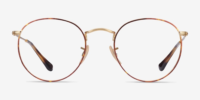 Ray-Ban RB3447V Tortoise & Gold Metal Eyeglass Frames from EyeBuyDirect, Front View