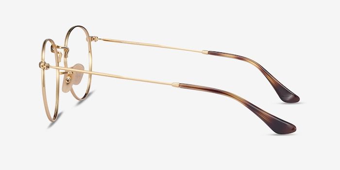 Ray-Ban RB3447V Tortoise & Gold Metal Eyeglass Frames from EyeBuyDirect, Side View