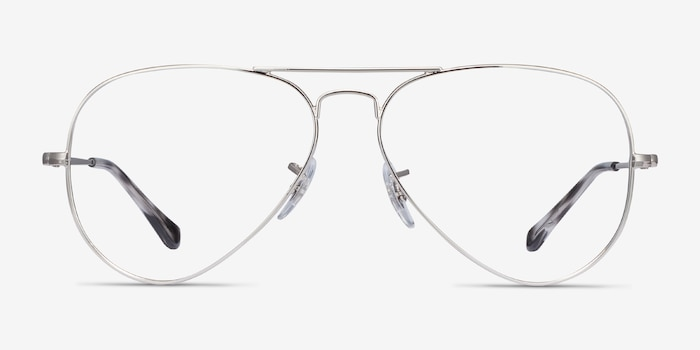 Ray-Ban RB6489 Silver Metal Eyeglass Frames from EyeBuyDirect, Front View