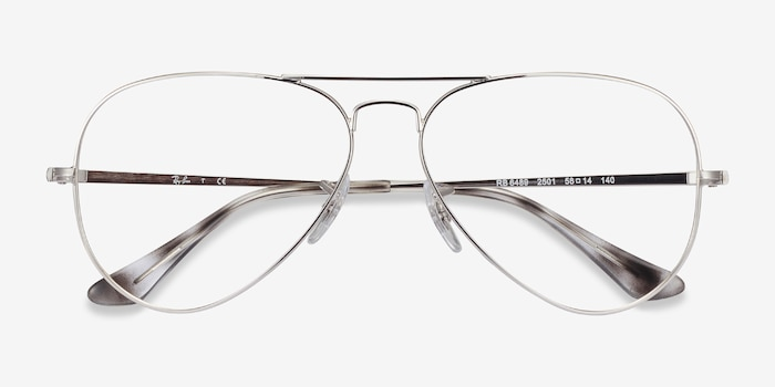 Ray-Ban RB6489 Silver Metal Eyeglass Frames from EyeBuyDirect, Closed View