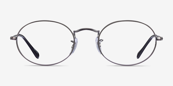 Ray-Ban RB2447V Gunmetal Metal Eyeglass Frames from EyeBuyDirect, Front View
