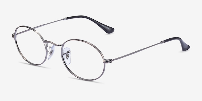 Ray-Ban RB2447V Gunmetal Metal Eyeglass Frames from EyeBuyDirect, Angle View