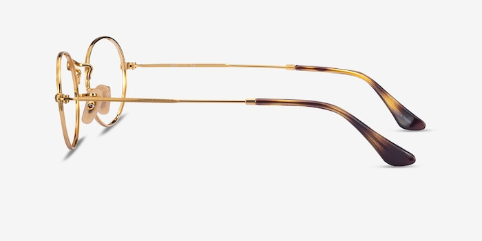 Ray-Ban RB3547V Gold Metal Eyeglass Frames from EyeBuyDirect, Side View