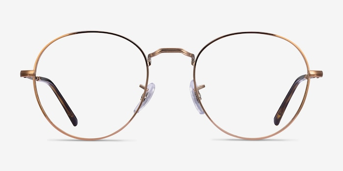 Ray-Ban RB3582V Bronze Copper Metal Eyeglass Frames from EyeBuyDirect, Front View