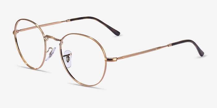 Ray-Ban RB3582V Bronze Copper Metal Eyeglass Frames from EyeBuyDirect, Angle View