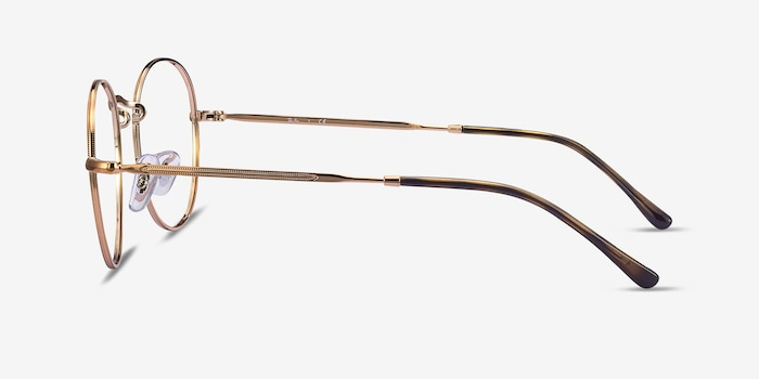 Ray-Ban RB3582V Bronze Copper Metal Eyeglass Frames from EyeBuyDirect, Side View