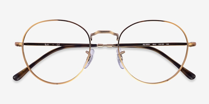 Ray-Ban RB3582V Bronze Copper Metal Eyeglass Frames from EyeBuyDirect, Closed View