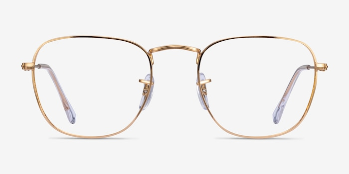 Ray-Ban RB3857V Gold Metal Eyeglass Frames from EyeBuyDirect, Front View