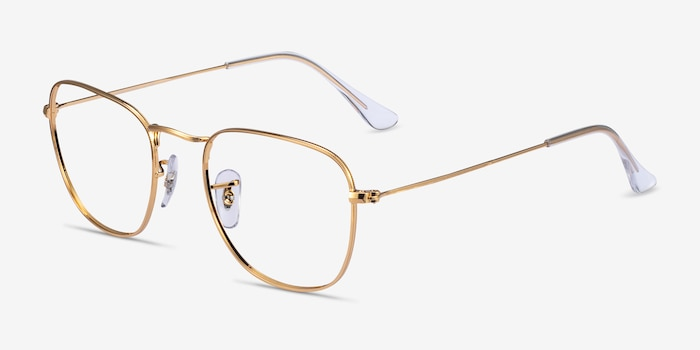 Ray-Ban RB3857V Gold Metal Eyeglass Frames from EyeBuyDirect, Angle View